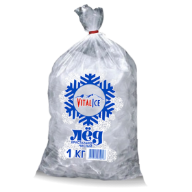 Лёд в кубиках (стандартный), 1 кг