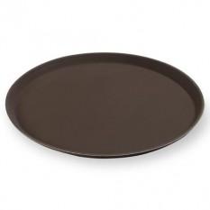 Поднос прорезиненный из стеклопластика Yizhou, 355 мм, коричневый