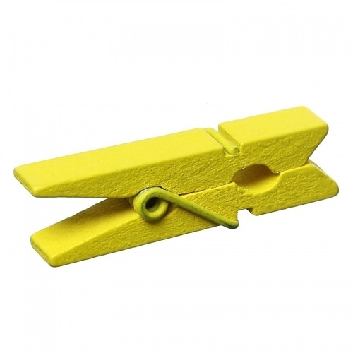Прищепки декоративные желтые, 500 шт.