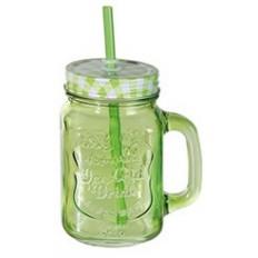 "Банка-кружка ""Ice Cold Drink"", 450 ml., салатовая"