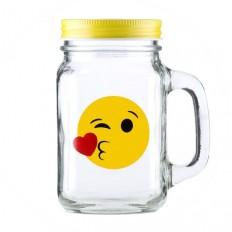 """Банка-кружка """"Emoji Moa"""", 450 ml."""