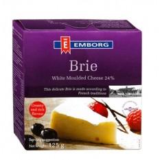 Сыр Emborg Danish Brie с белой плесенью, 125 г