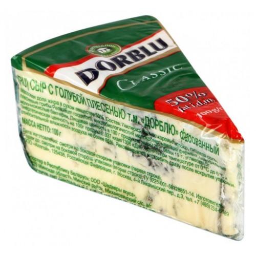 Сыр полутвердый с благородной голубой плесенью Dorblu Kaserei Champignon 50%, 100 г