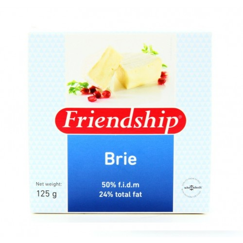 Сыр Friendship Brie с белой плесенью, 125 г
