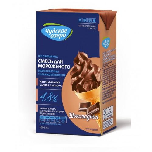 Смесь жидкая для молочного шоколадного мороженого ультрапастеризованная Чудское озеро, 1000 мл