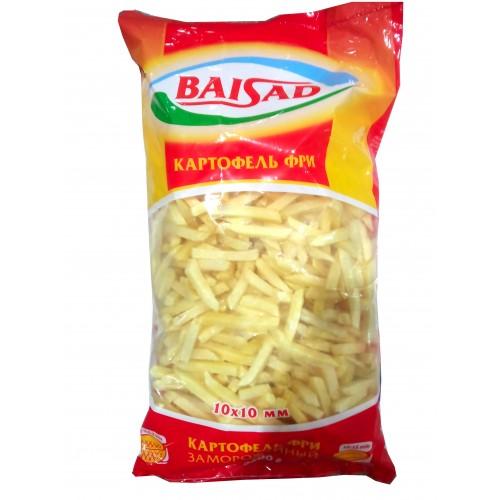 Картофель фри Байсад 10х10мм, 2.5 кг