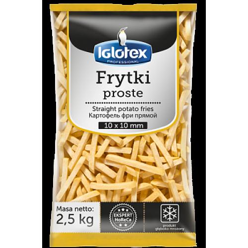 Картофель фри прямой Iglotex Professional 10х10мм, 2,5 кг