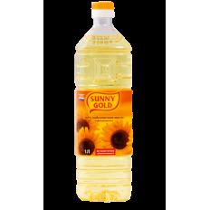 Масло подсолнечное рафинированное дезодорированное Sunny Gold, 1 л