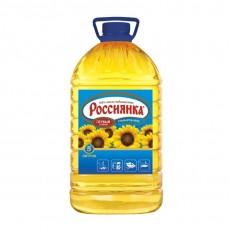 Масло подсолнечное рафинированное дезодорированное Россиянка, 5 л