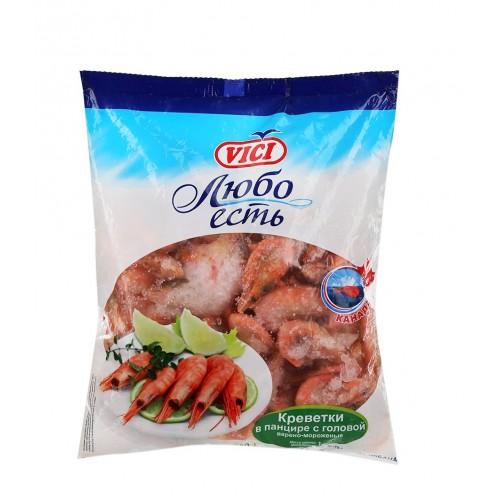 """Креветки 70/90 в панцире """"Lux"""" замороженные, 1 кг"""