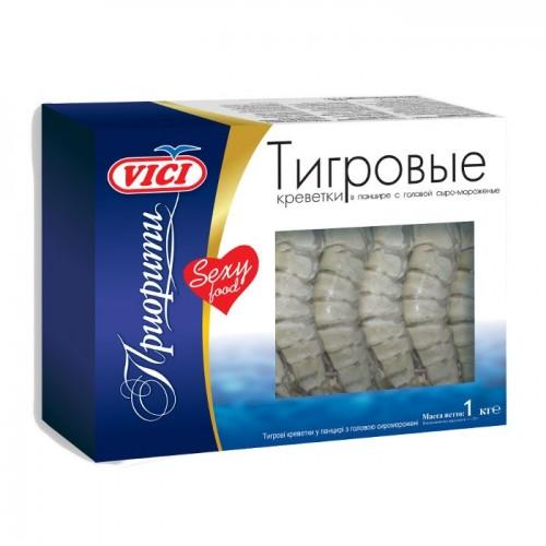 Креветки Тигровые 16/20 VICI замороженные, 1 кг