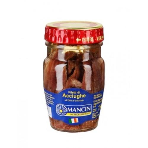 """Анчоусы филе в подсолнечном масле """"Манчин"""", 78 г"""
