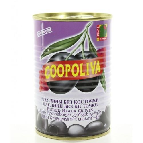 Черные маслины без косточки Coopoliva, 385 г