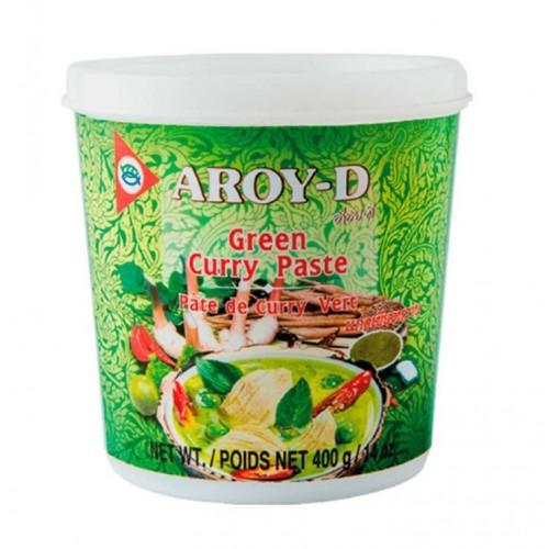 Паста-соус Карри зеленая Aroy-D, 400 г