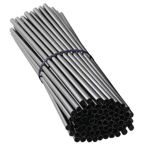 Трубочки 250 шт, чёрные прямые, 0.8cm x 24cm