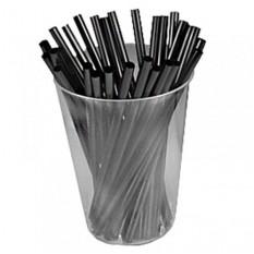 Трубочки 400 шт, мини чёрные прямые, 0.5cm x 12.5cm