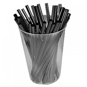 "Трубочки (400 шт) ""Mini Straight Black"", 0.5cm x 12.5cm"