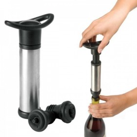 """Насос-помпа и пробки для создания вакуума """"Silver wine pump"""""""
