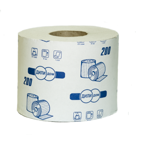 Бумага туалетная Дили Дом в рулонах 1 слой, 70-74 м