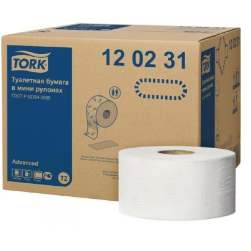 Бумага туалетная Tork в мини рулонах 2 слоя, 170 м