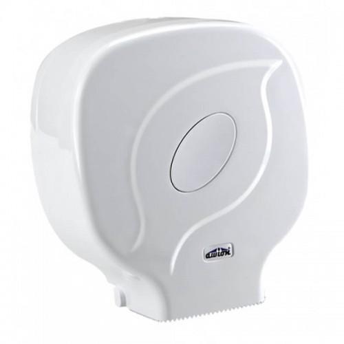 Диспенсер для туалетной бумаги в больших рулонах белый Uctem Plas