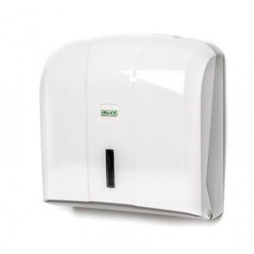 Диспенсер для листовых полотенец C,V сложения белый на 400 листов Vialli K4
