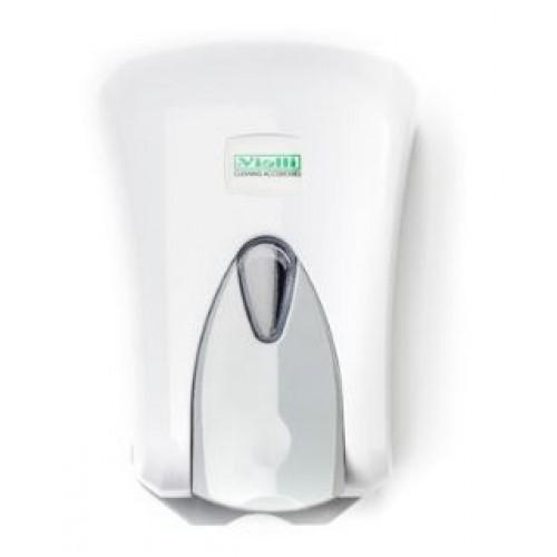 Диспенсер жидкого мыла белый с емкостью пластиковый наливной Vialli S5, 500 мл