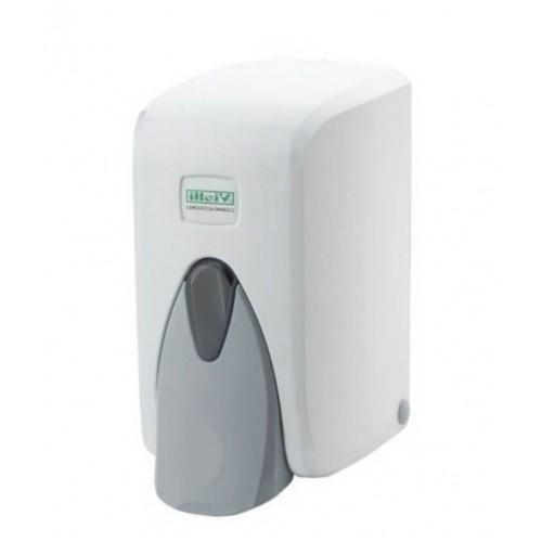 Диспенсер мыла-пены белый с емкостью пластиковый наливной Vialli F5, 500 мл