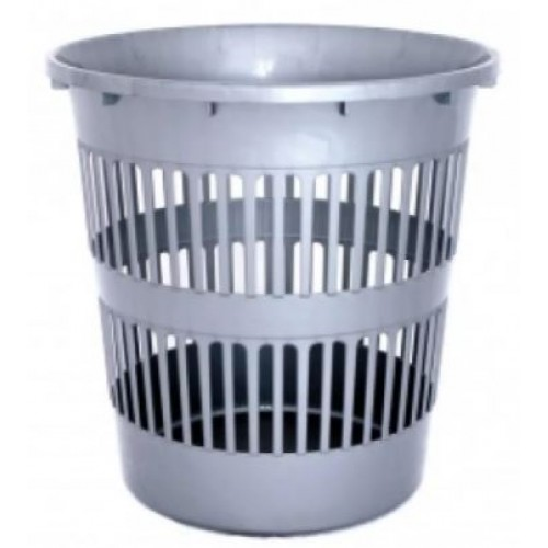 Корзина для мусора сетчатая Дили Дом 11 литров серая