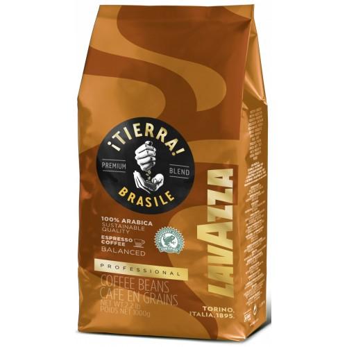 Кофе зерновой Lavazza Tierra Brazil Balanced, 1000 г.
