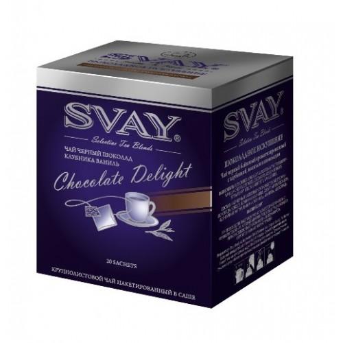 Чай в пакетиках саше Svay Chocolate Delight, 20 пакетиков