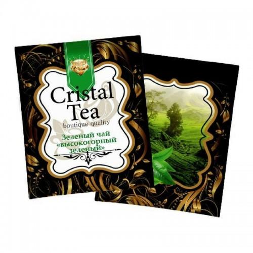 Чай в пакетиках Crystal Tea Зеленый высокогорный, 50 пакетиков