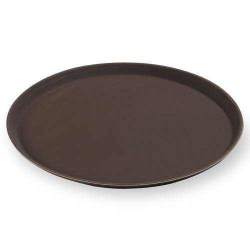 Поднос прорезиненный из полипропилена Yizhou, 406 мм, коричневый