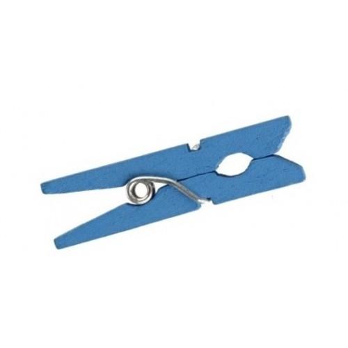 Прищепки декоративные голубые, 500 шт.