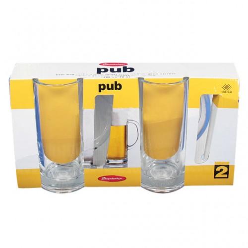 "Набор из 2-х пивных кружек Pasabahce ""Pub"", 300 ml."