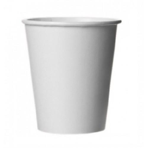 Стакан бумажный белый с логотипом, 350 мл