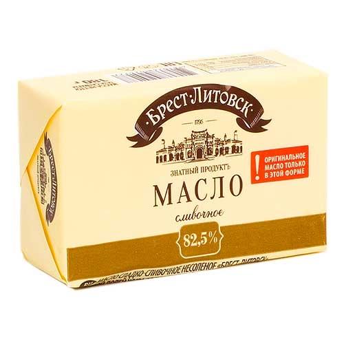 Масло сладкосливочное несоленое Брест-Литовск 82,5%, 180 г