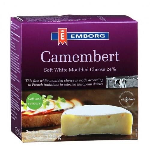 Сыр мягкий Emborg Camembert с белой плесенью, 125 г