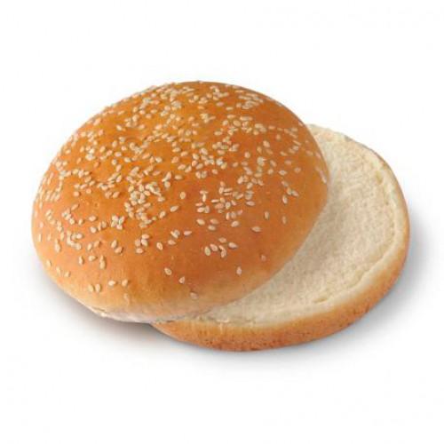 Булочка для бургера круглая с кунжутом замороженная 100 мм, 52 г, 60 шт