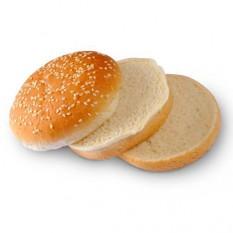 Булочка для бургера круглая с кунжутом двойная замороженная 100 мм, 75 г, 24 шт