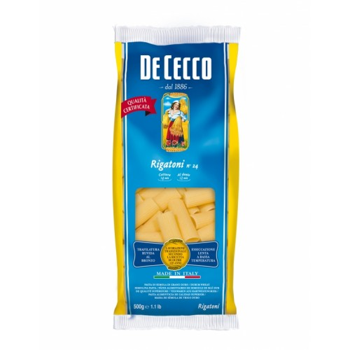 Макаронные изделия De Cecco Rigatoni №24, 500 г
