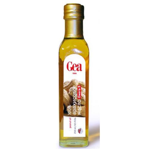 Масло арахисовое натуральное GEA 100% пищевое, 250 мл