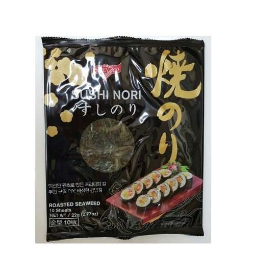 Водоросли морские SUSHI NORI ROASTED SEAWEED Sevenco, 10 листов