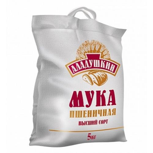 Мука пшеничная хлебопекарная Аладушкин, 5 кг