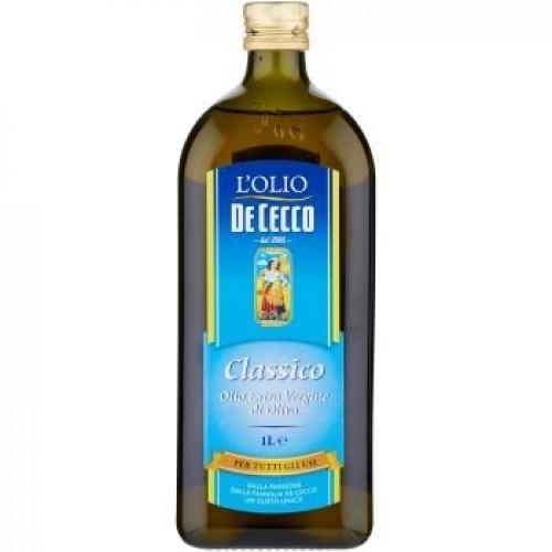Масло оливковое De Cecco Extra Virgin Classico, 1000 ml.