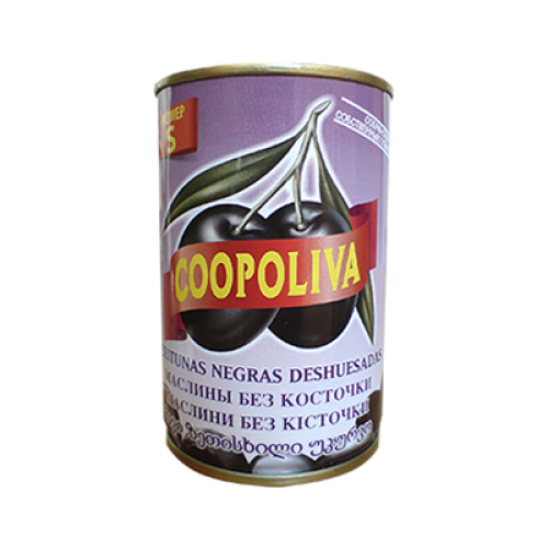 Черные маслины без косточки Coopoliva, 350 г