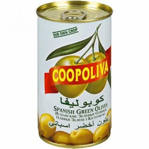 Зеленые оливки c косточкой Coopoliva, 350 г