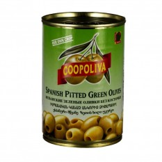Зеленые оливки без косточки Coopoliva, 350 г