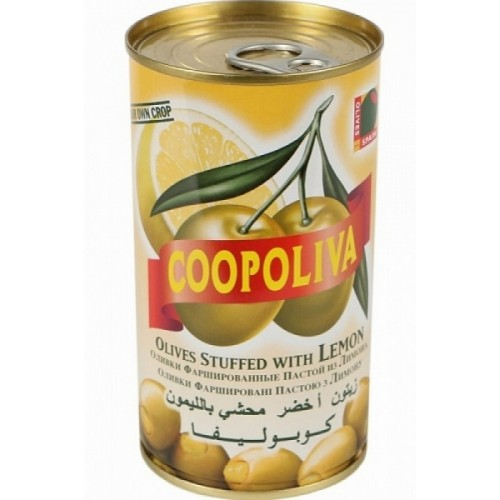 Зеленые оливки фаршированные лимоном Coopoliva, 350 г
