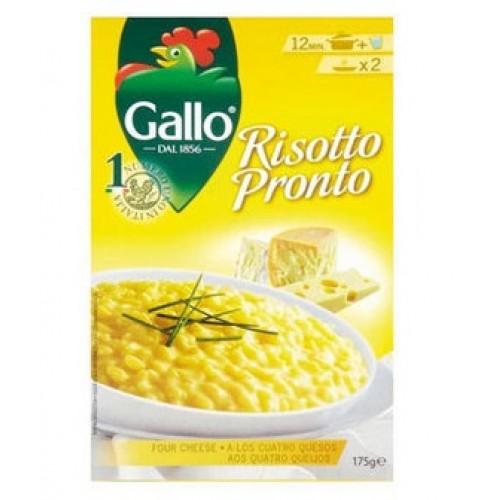 Рис Ризотто Riso Gallo четыре сыра, 175 г